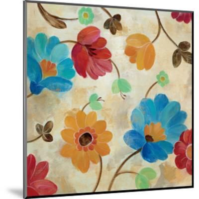 Coral and Teal Garden I-Silvia Vassileva-Mounted Art Print