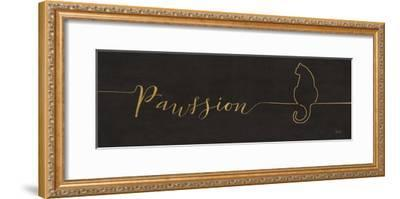 Underlined Cats IV Black-Veronique Charron-Framed Art Print