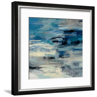 Indigo Wave-Silvia Vassileva-Framed Art Print