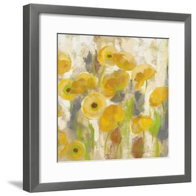 Floating Yellow Flowers V-Silvia Vassileva-Framed Art Print