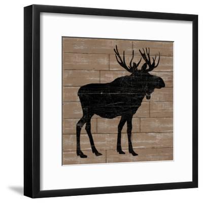 Lake Lodge I Brown no Words-Sue Schlabach-Framed Art Print