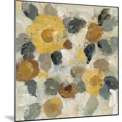 Neutral Floral Beige II Yellow Flowers-Silvia Vassileva-Mounted Art Print