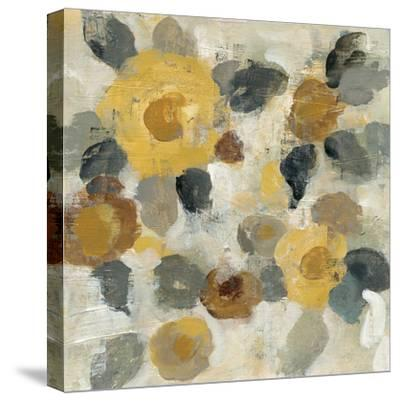 Neutral Floral Beige II Yellow Flowers-Silvia Vassileva-Stretched Canvas Print