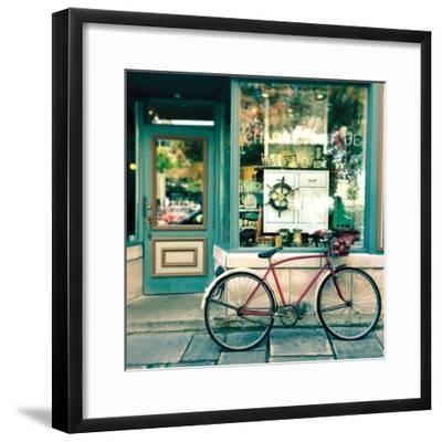 Sunday Morning Bike-Sue Schlabach-Framed Art Print