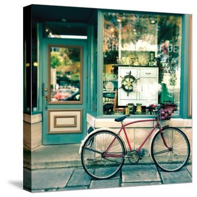 Sunday Morning Bike-Sue Schlabach-Stretched Canvas Print