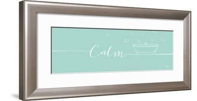 Underline Bath II Teal-Veronique Charron-Framed Art Print