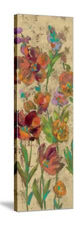 July Garden Trio II on Cream-Silvia Vassileva-Stretched Canvas Print