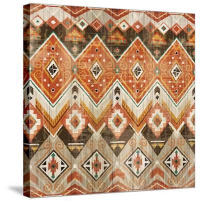 Natural History Lodge Southwest Pattern VIII-Wild Apple Portfolio-Stretched Canvas Print