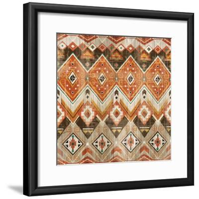 Natural History Lodge Southwest Pattern VIII-Wild Apple Portfolio-Framed Art Print