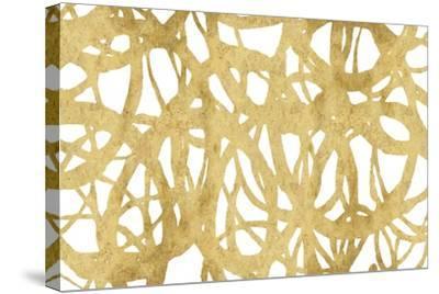 Endless Circles Front Gold IV-Wild Apple Portfolio-Stretched Canvas Print