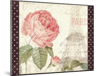 La Vie En Rose I with Border--Mounted Art Print