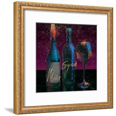 Wine Splash Dark III--Framed Art Print
