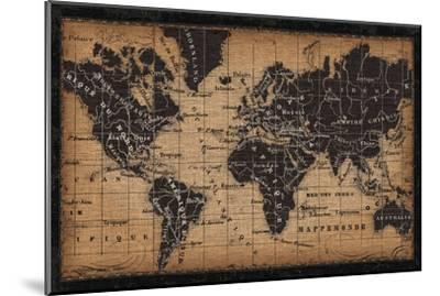 Old World Map--Mounted Art Print