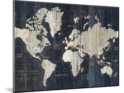 Old World Map Blue Crop-Wild Apple Portfolio-Mounted Premium Giclee Print