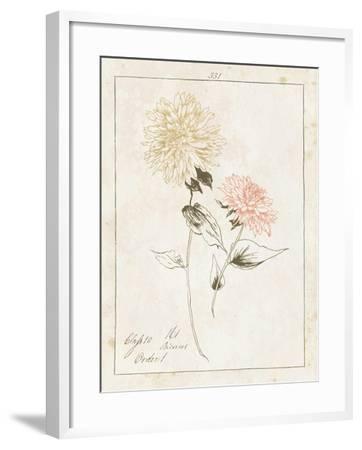 Flowers on White IV with Words-Wild Apple Portfolio-Framed Art Print