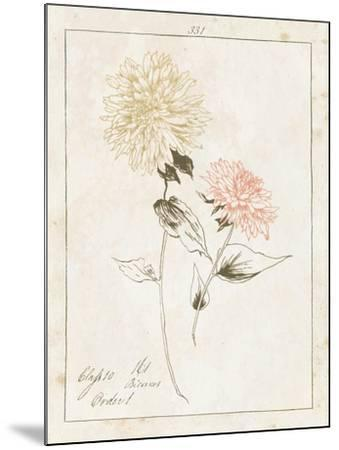 Flowers on White IV with Words-Wild Apple Portfolio-Mounted Art Print