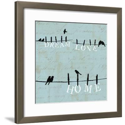 Birds on a Wire 3 Up--Framed Art Print
