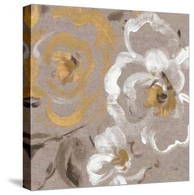 Brushed Petals III Gold--Stretched Canvas Print