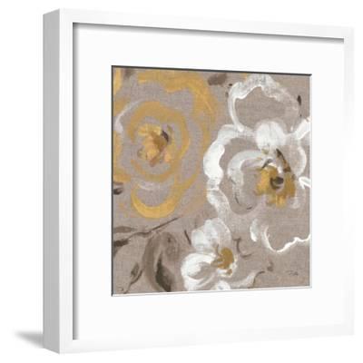 Brushed Petals III Gold--Framed Art Print
