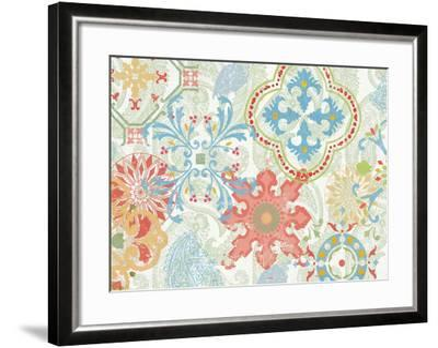 Crimson Stamps IV Spring--Framed Art Print