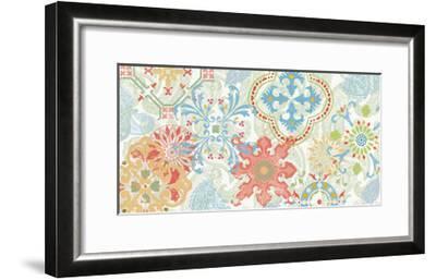 Crimson Stamps I Spring--Framed Art Print