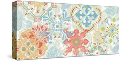 Crimson Stamps I Spring--Stretched Canvas Print