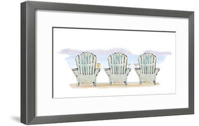 Girlfriends Cabin VII No Words-Sue Schlabach-Framed Art Print