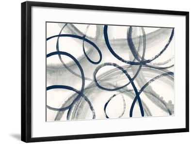 Calligraphia with Navy-Sue Schlabach-Framed Art Print