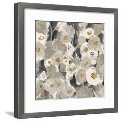 Velvety Florals Neutral II-Silvia Vassileva-Framed Art Print