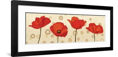 Poppies Dance III-Veronique Charron-Framed Art Print