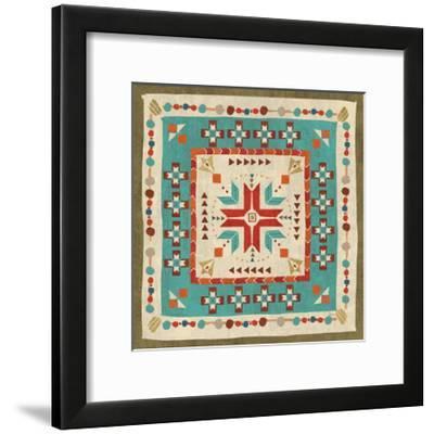 Southwest at Heart Tile VII-Veronique Charron-Framed Art Print