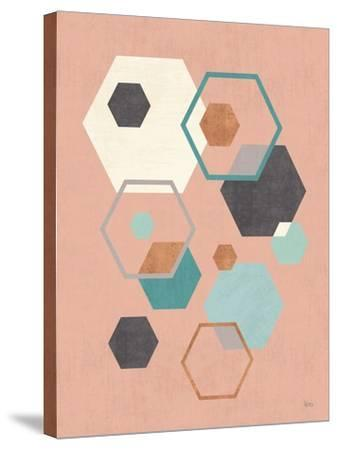 Abstract Geo III Pink-Veronique Charron-Stretched Canvas Print
