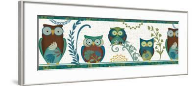 Owl Blues III-Veronique Charron-Framed Art Print
