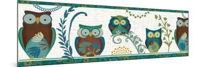 Owl Blues III-Veronique Charron-Mounted Art Print