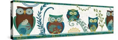 Owl Blues III-Veronique Charron-Stretched Canvas Print