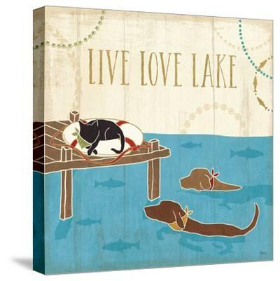 Lake Pals V-Veronique Charron-Stretched Canvas Print
