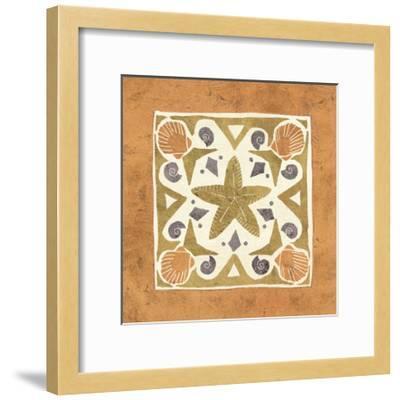 Undersea Gold Tile III-Veronique Charron-Framed Art Print