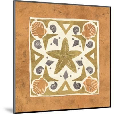 Undersea Gold Tile III-Veronique Charron-Mounted Art Print