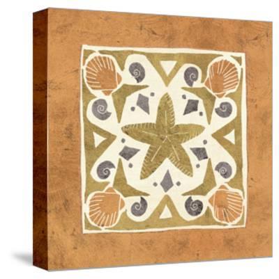 Undersea Gold Tile III-Veronique Charron-Stretched Canvas Print