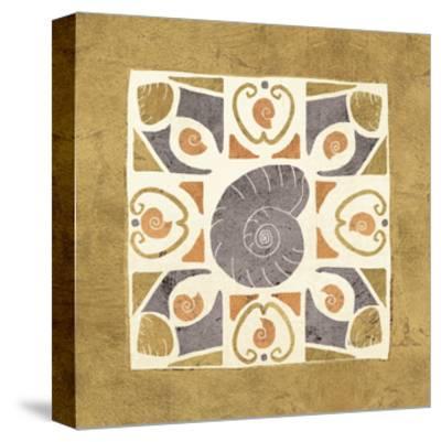 Undersea Gold Tile IV-Veronique Charron-Stretched Canvas Print