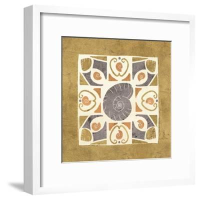 Undersea Gold Tile IV-Veronique Charron-Framed Art Print