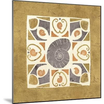 Undersea Gold Tile IV-Veronique Charron-Mounted Art Print