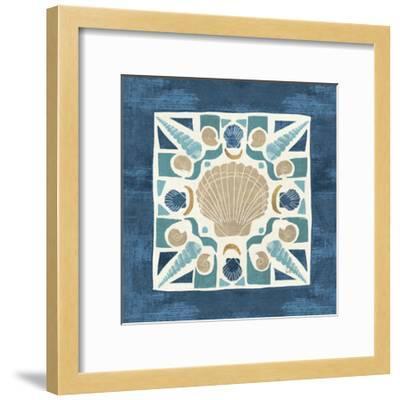 Undersea Blue Tile II-Veronique Charron-Framed Art Print