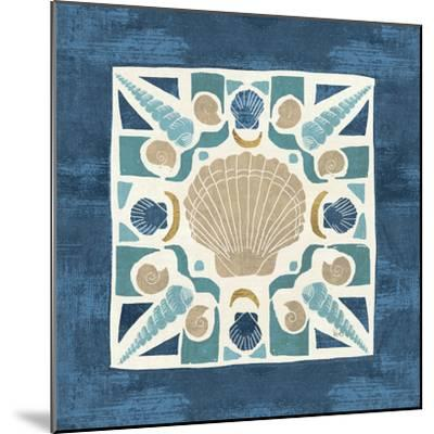 Undersea Blue Tile II-Veronique Charron-Mounted Art Print