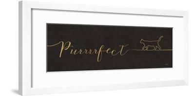 Underlined Cats I Black-Veronique Charron-Framed Art Print