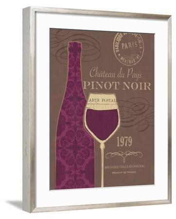 At the Winery III Brown-Veronique Charron-Framed Art Print