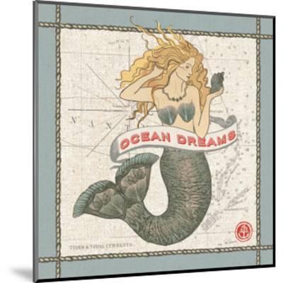Drift Away Mermaid-Sue Schlabach-Mounted Art Print