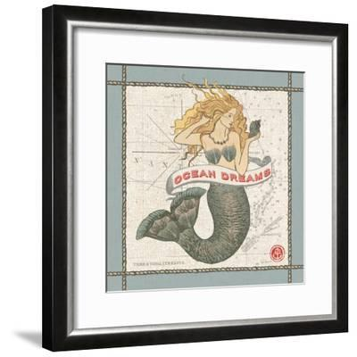 Drift Away Mermaid-Sue Schlabach-Framed Art Print