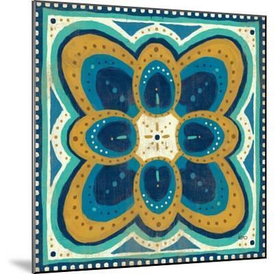 Proud as a Peacock Tile III-Veronique Charron-Mounted Art Print