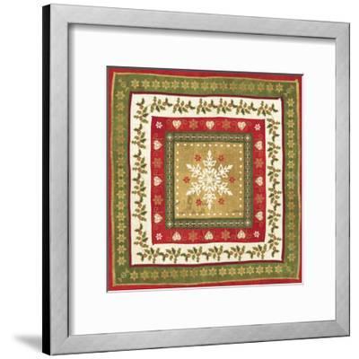 Simply Christmas Tiles I-Veronique Charron-Framed Art Print